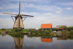 The Windmills of Kinderdijk. In the Netherlands Royalty Free Stock Image