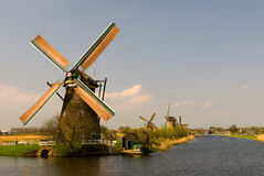 Windmills of Kinderdijk Royalty Free Stock Photos