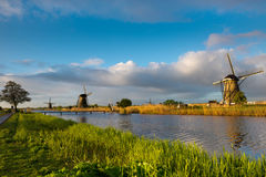 Windmills in Kinderdijk Stock Photography