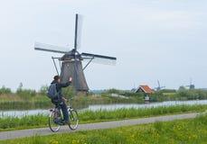 Windmills of Kinderdijk royalty free stock photos