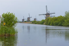 Windmills of Kinderdijk Royalty Free Stock Photo