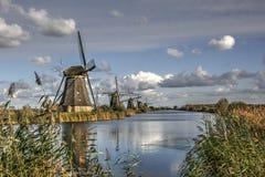 Kinderdijk. Windmills at kinderdijk Holland. Beautifull Stock Images