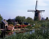 Windmills, Kinderdijk, Holland. Royalty Free Stock Photos