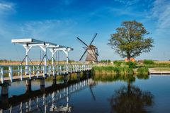 Windmills at Kinderdijk in Holland. Netherlands Stock Photography