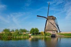 Windmills at Kinderdijk in Holland. Netherlands Royalty Free Stock Images