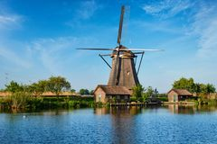 Windmills at Kinderdijk in Holland. Netherlands Stock Photos