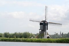 Windmills of Kinderdijk in Holland stock photos