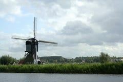 Windmills of Kinderdijk in Holland stock images