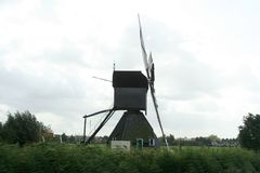Windmills of Kinderdijk in Holland royalty free stock images