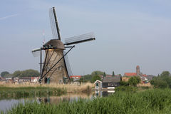 Windmills of kinderdijk holland Stock Photo