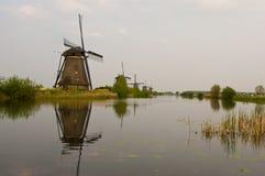Windmills in Kinderdijk, Netherlands Royalty Free Stock Image