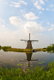 Windmills in Kinderdijk, Netherlands Royalty Free Stock Images