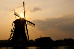 Windmills in Kinderdijk, Netherlands Royalty Free Stock Photography