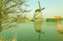 Windmills at Kinderdijk, Netherlands Royalty Free Stock Image