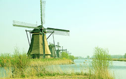 Windmills at Kinderdijk, Netherlands Stock Photo