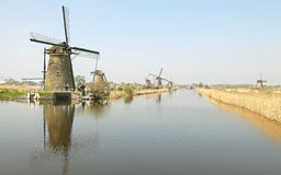 Windmills at Kinderdijk, Netherlands Stock Photography