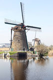 Windmills at Kinderdijk, Netherlands Stock Image