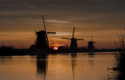 Windmills Kinderdijk Stock Photo