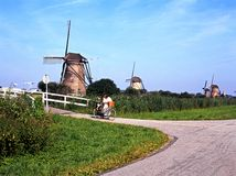 Windmills, Kinderdijk. Royalty Free Stock Photo