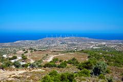 Windmills, Kos Island Stock Photos