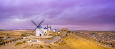 Windmills of La Mancha Royalty Free Stock Photos