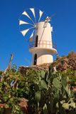 Windmills in the Lasithi Plateau Royalty Free Stock Images