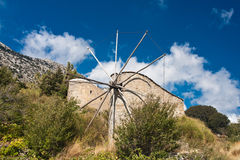 Windmills on Lasithi Plateau, Crete  Greece Royalty Free Stock Images