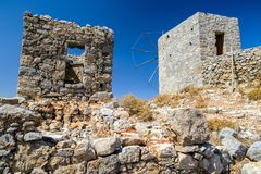 Windmills of the Lasithi plateau, Crete - Greece Royalty Free Stock Images