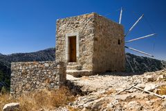 Windmills of the Lasithi plateau, Crete - Greece Royalty Free Stock Photos