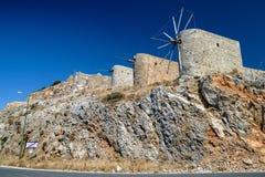 Windmills of the Lasithi plateau, Crete - Greece Stock Photos