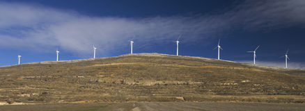 Windmills lined royalty free stock images