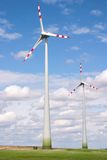 Windmills and meadow Royalty Free Stock Photography