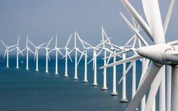 Windmills - Middelgrunden - Copenhagen - Denmark royalty free stock photo