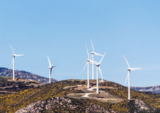 Windmills in the mountains Royalty Free Stock Photography