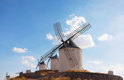 Windmills of the municipality of Konsuegra Stock Photos