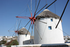 Windmills in Mykonos Royalty Free Stock Image