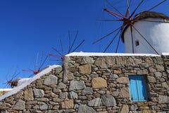 Windmills of Mykonos Royalty Free Stock Photo