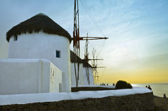 Windmills of Mykonos Stock Photography