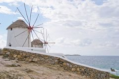 Windmills, Mykonos Royalty Free Stock Photography
