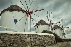 Windmills of Mykonos. Royalty Free Stock Images