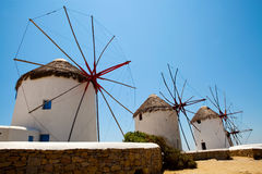 Windmills in Mykonos, Greece Stock Photography