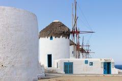 Windmills Mykonos Stock Photography