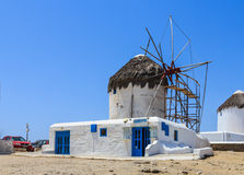 Windmills of Mykonos, Greece Royalty Free Stock Images