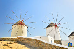 Windmills of Mykonos, Greece Royalty Free Stock Photography