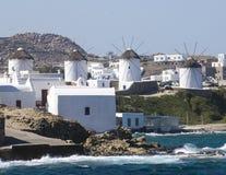 Windmills of Mykonos, Greece Stock Photography