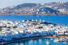 Windmills on Mykonos, Greece Stock Photo