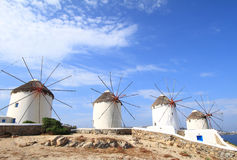 Windmills of Mykonos island Stock Image