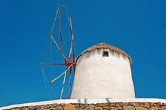 Windmills on Mykonos island, Greece Stock Photos