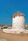 Windmills on Mykonos island, Greece 2 Royalty Free Stock Photo