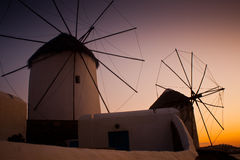 Windmills in Mykonos Royalty Free Stock Photography
